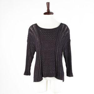 ANTHROPOLOGIE – Blue Knit Long Sleeve Sweater – L